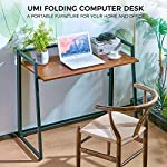 Umi Amazon Brand Folding Computer Desk Modern Simple Foldable Desk PC Laptop Fold up Desk Portable Folding Study Writing…
