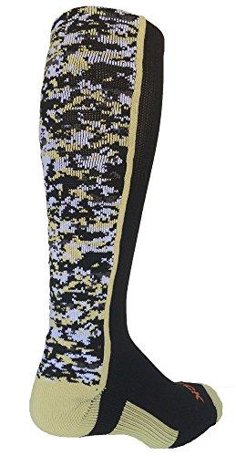 TCK Digital Camo OTC Socks (Black/Vegas Gold, - Vegas Fashion