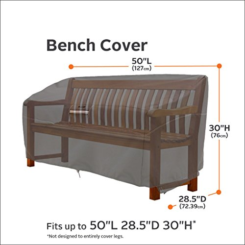 Classic Accessories Ravenna Patio Bench Cover - Premium Outdoor Furniture Cover with Durable and Water Resistant Fabric (55-164-015101-EC)