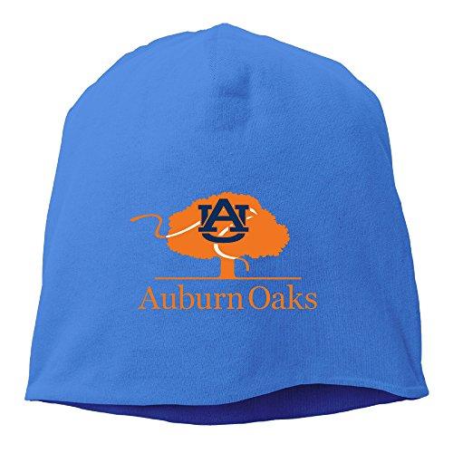 Caryonom Adult Auburn Tree Logo University Beanies Skull Ski Cap Hat RoyalBlue