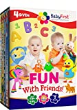 Laugh and Play with your Magical Friends!Watch your baby blossom with this incredible 4 DVD bundle! Come and play with your friends from BabyFirst TV in this 4 DVD Collection that stimulates learning, entertains, and provides over 5 hours of magical ...