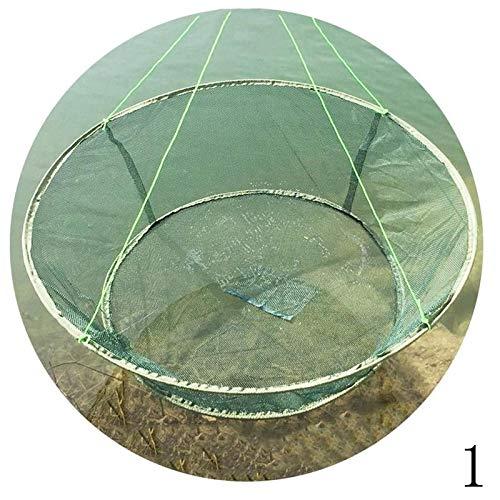 Window Flowers Fishing Net Large Prawn Bait Crab Shrimp Net Drop Pier Harbour Pond Double ()
