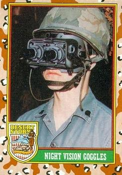 (Night Vision Goggles trading card (Desert Storm) 1991 Topps #63)