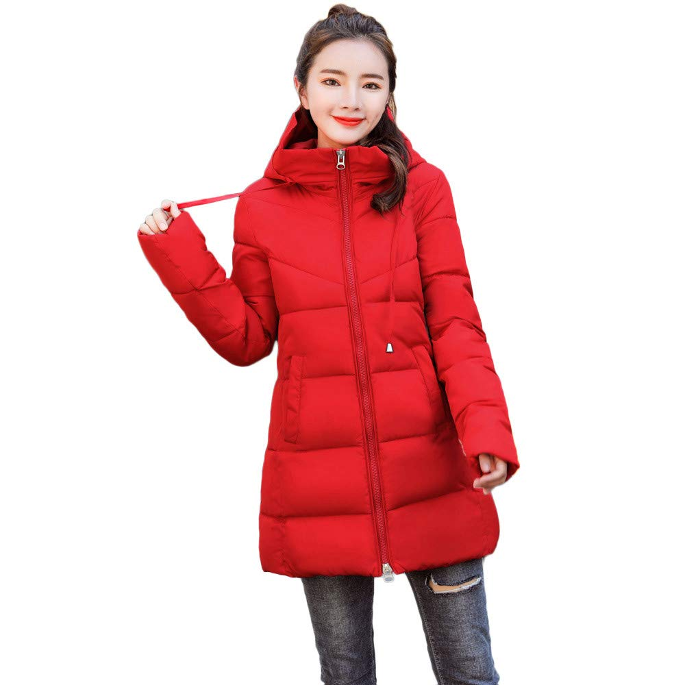 Clearance! Women Winter Warm Hooded Thick Warm Slim Down Jacket Long Puffer Coat Overcoat