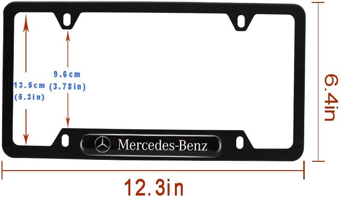 Car concentration camp 2Pcs 4 Holes Black Aluminum Alloy License Plate Frames for Infiniti with Screw Caps Set