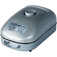 Hailea 10-455-405 - Bomba de aire regulable ACO9602-432 Lph con 2 salidas de 4 mm, 13 x 8 x 20 cm, color gris