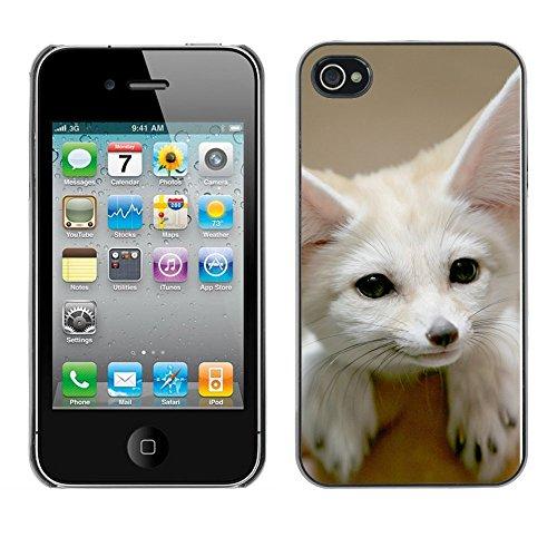 Omega Case PC Polycarbonate Cas Coque Drapeau - Apple iPhone 4 / 4S ( Cute Fennec Fox )