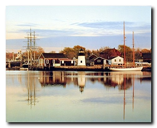 Peaceful Harbor Boats Scenery Nature Wall Decor Art Print Poster