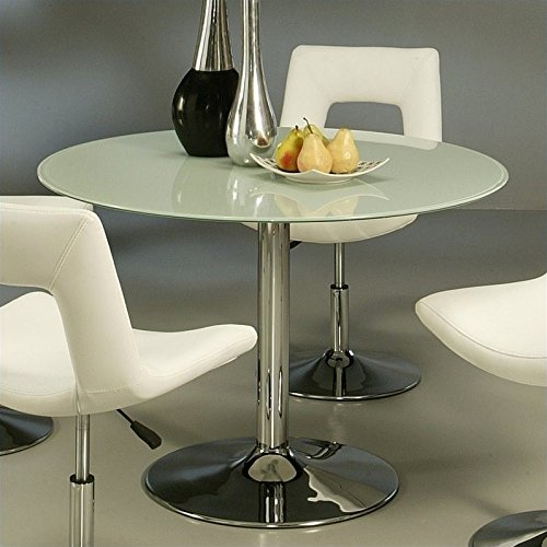 Pastel Furniture Sundance Round Dining Table in Frosted Glass (Round Gathering Glass Table)
