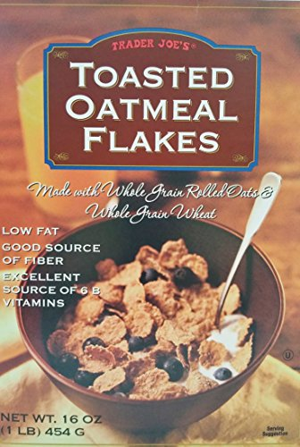 Trader Joe's - Toasted Oatmeal Flakes - Cereal Made with Whole Grain Rolled Oats & Whole Grain Wheat - Net Wt 16 Oz.