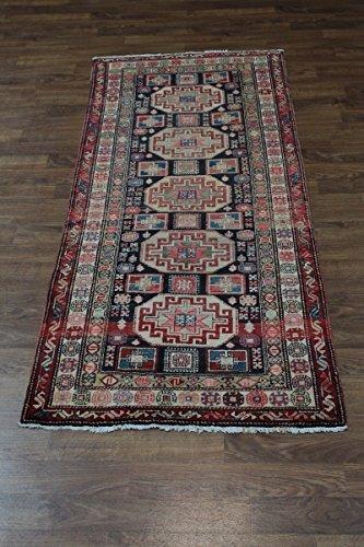 Admin Rugs Geometric Runner Semi Antique Meshkin Persian Style Rug Oriental Area Carpet Sale 4X10