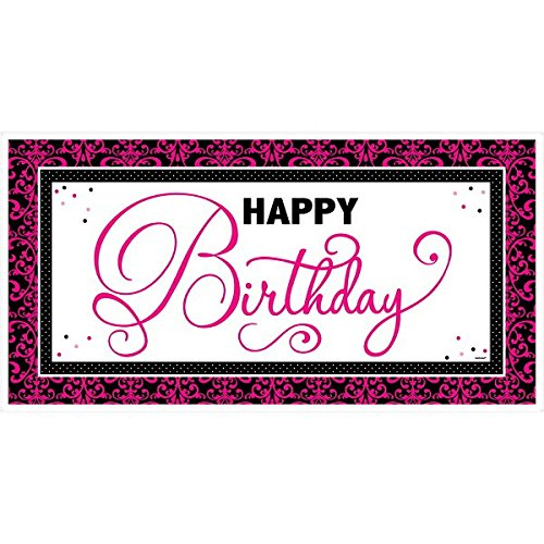 Amscan Elegant Black and Pink Birthday Party Giant