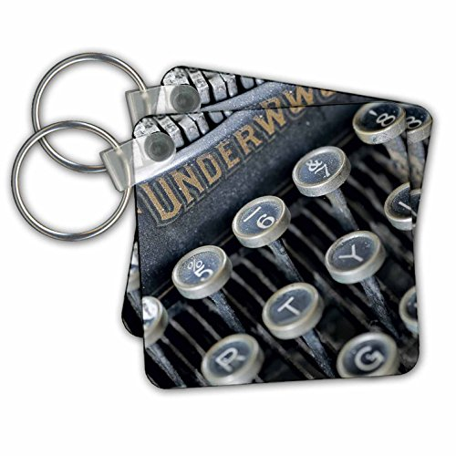 Roni Chastain Photography - Close up photo of an old typewriter - Key Chains - set of 2 Key Chains ( kc_173603_1)