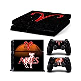 Constellation Series Skin Decal Sticker Set for Sony PlayStation 4 - Aries (2 Controller Stickers + 1 Console Stickers)