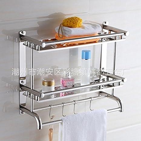 MOMO los baños Son de Acero Inoxidable, Estante para Toallas, estantes, WC, baño, Estante para Toallas, Cocina, estantes Colgantes,Capas 60cm: Amazon.es: ...