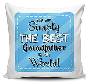 You son simplemente la mejor abuelo en el mundo–Funda para cojín w/Insert–azul