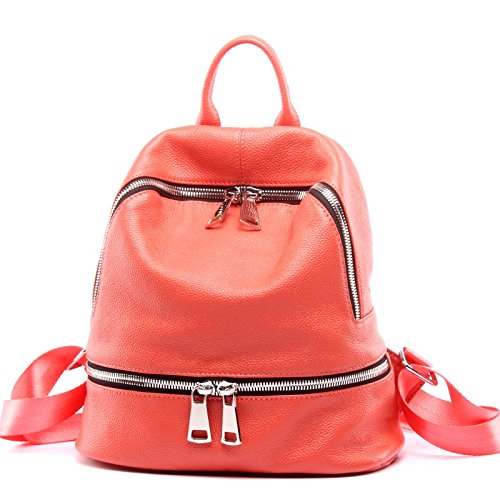 Red Pelle Donna color M Borsa Size Spalla Tracolla Shishanyun Da A Red Con In waO8qC