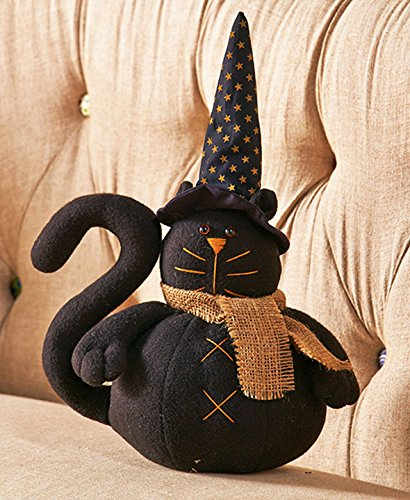 Black Cat 3D Pillow (Halloween Cat Decorations)