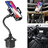 Marrrch Car Phone Mount,360 Degree [Adjustable Distance] Cup Car Phone Holder Compatible with iPhone Xs/XS MAX/XR/X/8/8Plus/7/7Plus, Galaxy S7/S8/S9, Google Nexus, Huawei and More (Black)
