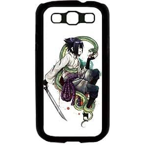 Naruto Manga Anime Comic Uchiha Sasuke Samsung Galaxy S3 SIII I9300 TPU Soft Black or White case (Black)
