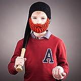Beardo Kids Detachable Beard Hat, Ginger Black