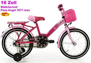 9e25ef968 Bicicleta holandesa para niña 16 pulgadas poza Angel Rosa: Amazon.es:  Deportes y aire libre