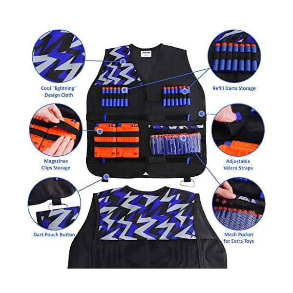 UWANTME-Kids-Tactical-Vest-Kit-for-Nerf-Guns-N-Strike-Elite-Series-for-Boys-Girls