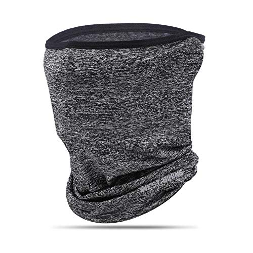 Balaclava, Versatile Face Mask Neck Gaiter, Riding Running Headwear for UV Wind Dust Light-Gray ()