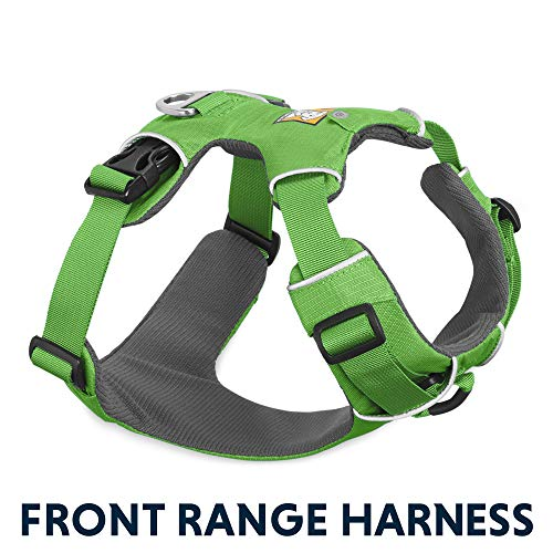 (RUFFWEAR All Day Adventure Dog Harness, Very Small Breeds, Adjustable Fit, Size: X-Small, Meadow Green, Front Range Harness, 30501-345S1)