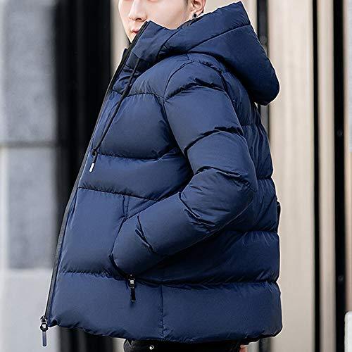 Glissière Fermeture Capuche Hiver Veste Chaud Parka Épais En Doudoune Manteau À Manteaux Coton Homme Bleu sonnena Blouson wHH8Yx40q