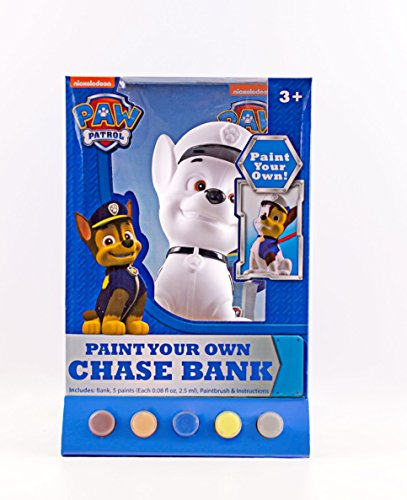 Nickelodeon Paw Patrol Chase Figural Coin Bank, Unpainted, 10
