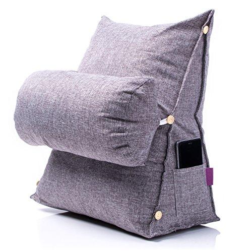 Fashion relleno Tatami–Cojín en cuña cama Backrest algodón y lino almohada con triangular reposacabezas almohada...