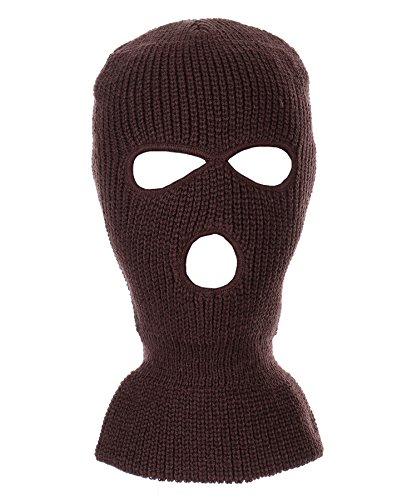(RufnTop Ski Mask for Cycling & Sports Motorcycle Neck Warmer Beanie Winter Balaclava Cold Weather Face Mask(3 Holes Burgandy One Size))