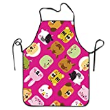 Adorable Animal Adjustable Apron For Kitchen BBQ Barbecue Cooking Chef Waitress Great Gift For Wife Ladies Men Boyfriend