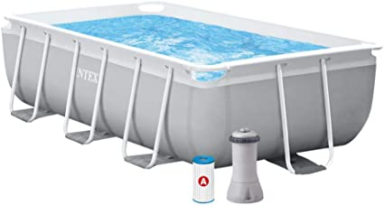 Intex 26784NP Piscina rectangular, con depuradora, 300 x 175 x 80 ...