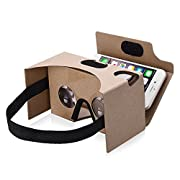Amazon Lightning Deal 100% claimed: [VR Cardboard V2.0] 3D VR Glasses,Patec Virtual Reality Headset for Movie Games Compatible with iPhone 6 6s plus,other 4-5.5 Inches Screen Smartphones