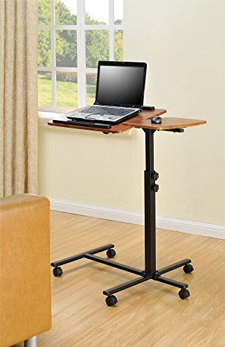 Altra Jacob Laptop Cart, Cherry/Black