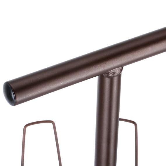 Braun 30 x 93,5 cm Metall LANGRIA Drehbar Schuhregal Schuhst/änder Stabil Platzsparend Schuhablage