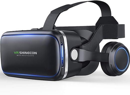 Shfmx Realidad Virtual Auricular, VR SHINECON VR Headset para TV, películas y videojuegos-3D VR Gafas VR Gafas compatibles con iOS, teléfonos Dentro de 4.7-6.0 Pulgadas: Amazon.es: Hogar
