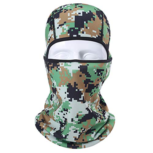 AXBXCX Camouflage Breathable Seamless Balaclava Helmet Liner Face Mask UV Protection Dust for Running Snowboarding Ski Fishing Hunting Off-Roading Motorcycle ATV 04