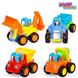 Kids Choice Unbreakable Engineering Automobile Car Construction Machine Toys Set For Children Kids Tractor Trolly, Trucks and Jcb Machine (Set Of 4), Multi Color