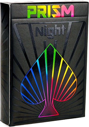 Prism Night Playing Cards – Incredible Black UV Gloss Deck of Cards, Bright Rainbow Colors and Quality Second to None. Standard Poker Card Size and Indices by Elephant Playing Cards.