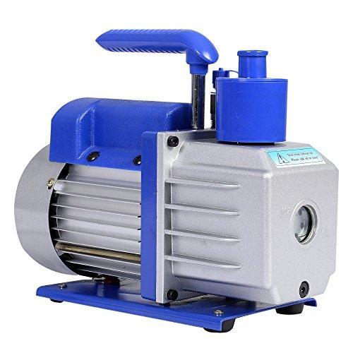 HFS R Vacuum Pump Single Stage 3CFM ; 110V/60HZ ; Inlet: SAE 1/4''; Ultimate Vacuum: 5PA, 1/4 HP; by HFS