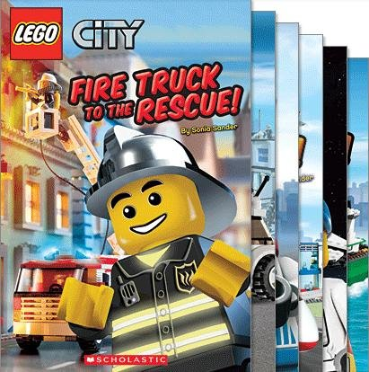 Lego City Reader Mega Pack (6 Books) (Includes: Ready For Takeoff; 3, 2, 1, Liftoff!; Calling All Cars!; (Lego City All Aboard)