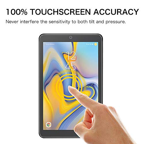 Fintie Tempered Glass Screen Protector for Samsung Galaxy Tab A 8.0 2018 Model SM-T387 Verizon/Sprint/T-Mobile/AT&T, [9H Hardness] Tempered Glass Ultra Clear [Scratch-Resistant] Screen Protector Film
