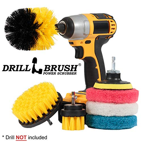 - Drillbrush Power Scrubber Brush Set - Drill Brush Attachment - Grout Brush Drill Attachment - Drill Scrubber Attachment - Bathroom Cleaner Scrub Brush - Toilet Brush Cleaning Supplies - Grout Cleaner