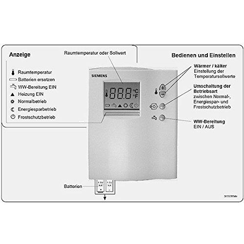 Siemens termostato regulador de la temperatura con semanas programador RDD10, 1DHW Termostato de ambiente/7612914029812: Amazon.es: Bricolaje y herramientas