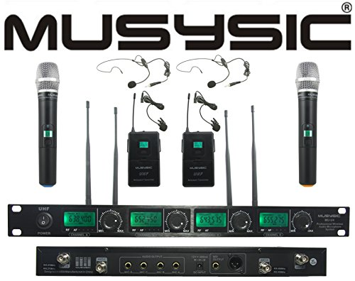 al UHF Handheld & Lapel/Lavalier & Headset Wireless Microphone System ()