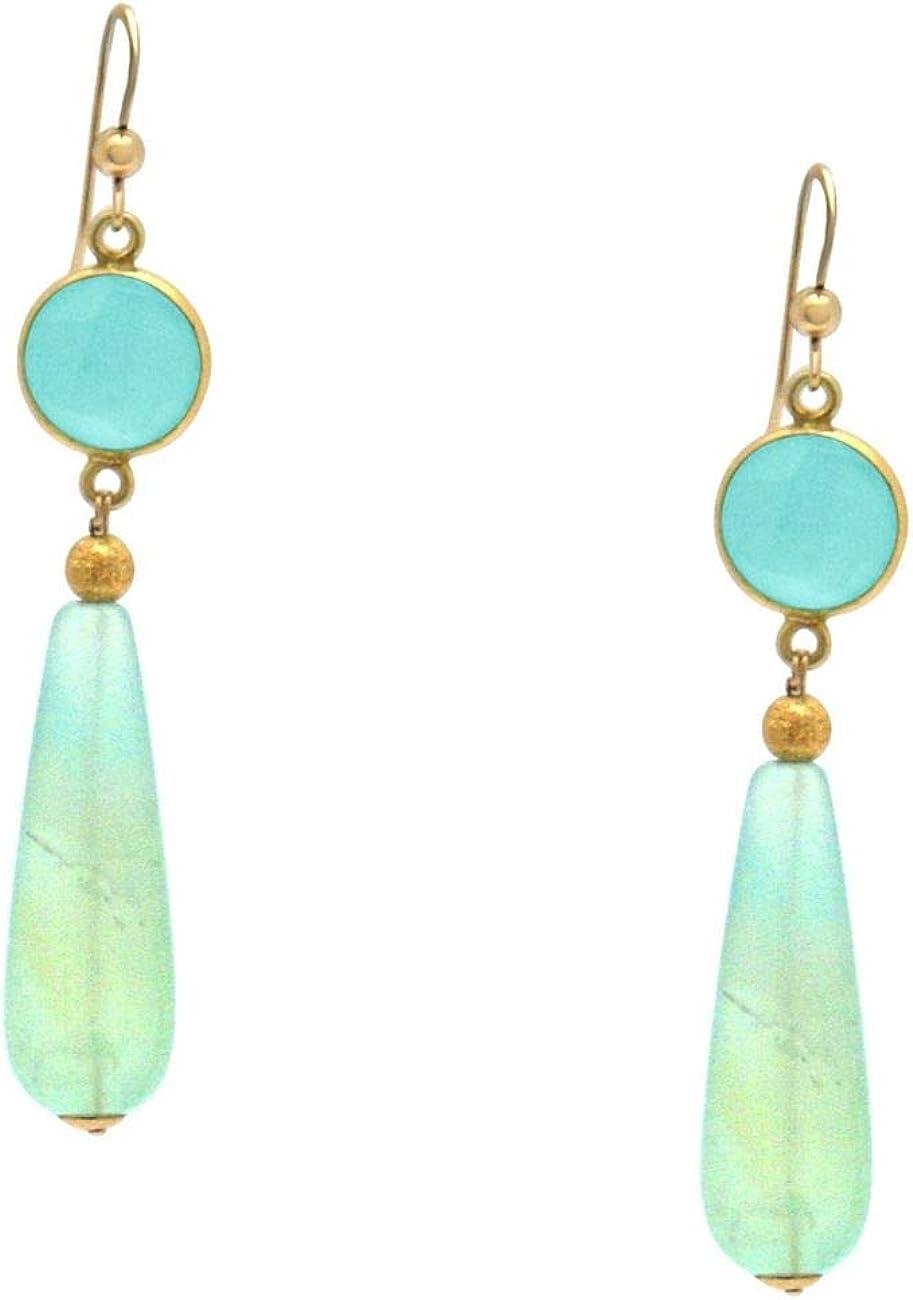 Gemshine Ohrringe mit meeresgrünen Chalcedonen und Opal
