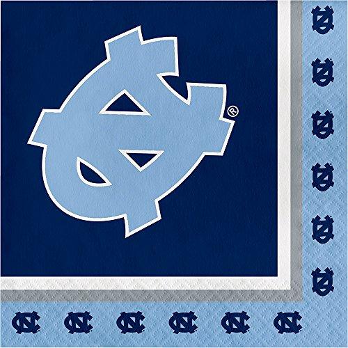 20-Count NCAA Paper Lunch Napkins, North Carolina Tar Heels -